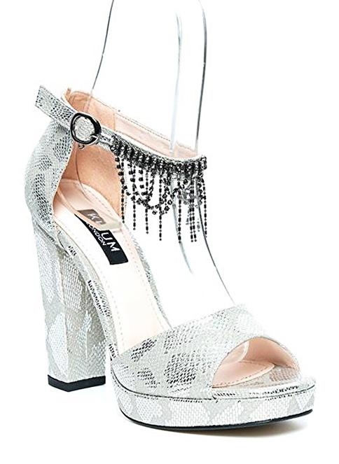 Kuum Yüksek Topuklu Ayakkabı Gümüş